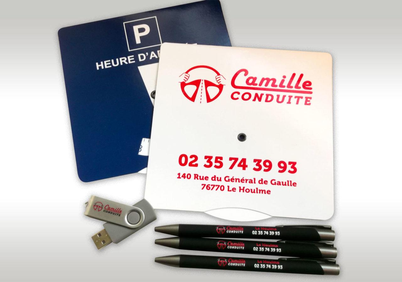 OBJETS PUB Camille Conduite Le Houlme