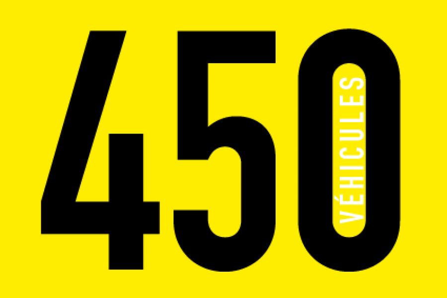 Plus de 450 véhicules en 2016 !